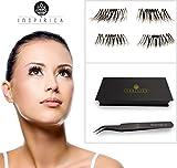 Magnetic Eyelashes Plus Tweezers Reusable Glue Free Natural Look Great For Deep Eyes 5pcs Set