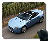 Popular Mouse Pad with aston martin v8 vantage 2008 blue top view cabriolet style nature Non-Slip Neoprene Rubber Standard Size 9 Inch(220mm) X 7 Inch(180mm) X 1/8 Inch(3mm) Mousepads