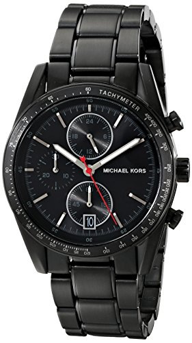 Michael Kors MK8386 Men's Accelerator Chrono Black IP Stainless Steel, Other Platings