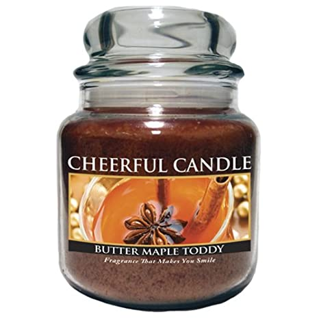 A Cheerful Giver Butter Maple Toddy Jar Candle, 24-Ounce CC18