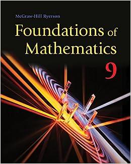 mcgraw hill ryerson foundations of mathematics 9