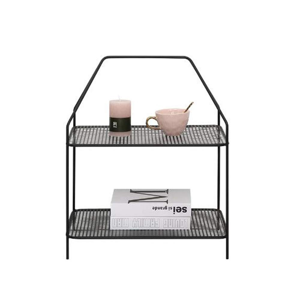 Xiaolin Iron Art Multi-Layer Storage Racks Living Room Sofa Coffee Table Side Table 19.6 X 13.7 X 24.8 Inches