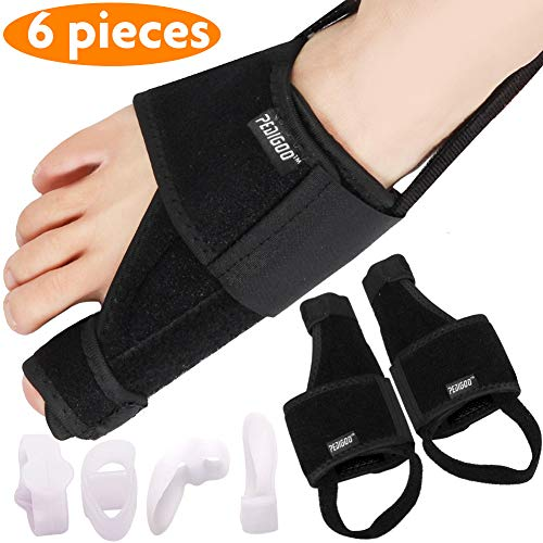 Bunion Corrector Bunion Relief Kit (Bunion Splints, Gel Toe Protect Separator Sleeves&Toe Separators) for Hallux Valgus -Day/Night Support for ()
