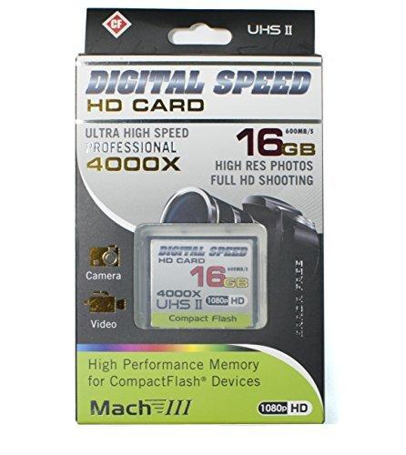 Digital Speed 4000X 16GB Professional High Speed Mach III 600MB/s Error Free (CF)