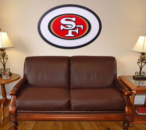 NFL Logo Graphic Art Plaque NFL Team: San Francisco - Logo 46 Inch Art Wall