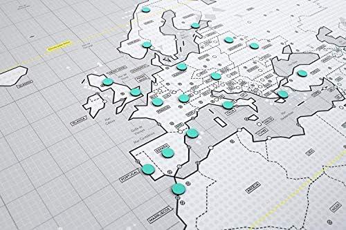 Mapnético Mapa del Mundo magnético de diseño con imanes. Señala ...