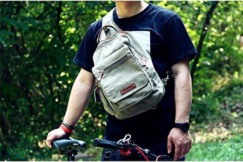 Canvas Sling Bag Designer Travel Shoulder Backpack Chest Crossbody Daypack for Men /& Women