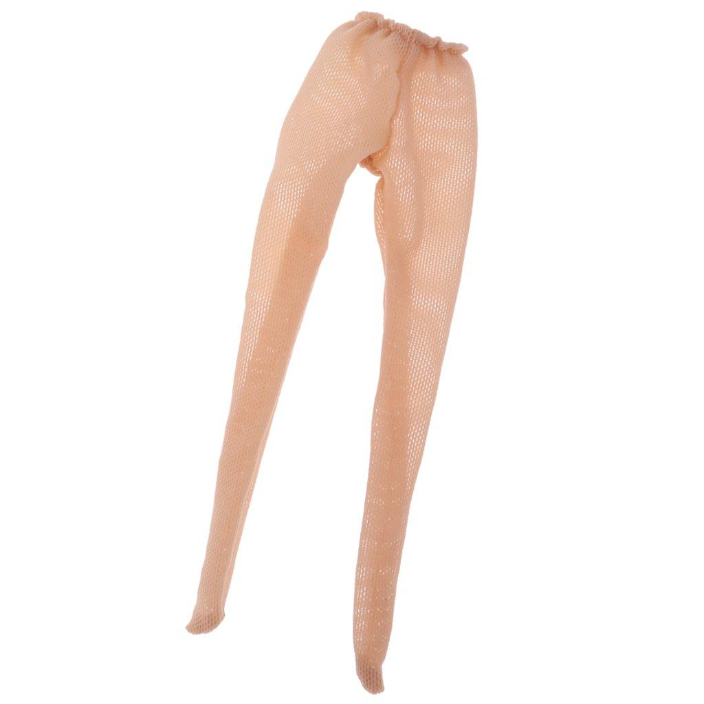 f0ed51a05f1 Amazon.com  MagiDeal Trendy 1 6 Light Khaki Elastic Doll Stockings For 12    Blythe Doll Clothing ACCS  Toys   Games