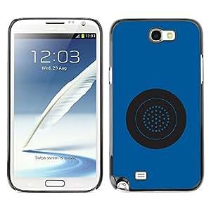 LECELL--Funda protectora / Cubierta / Piel For Samsung Galaxy Note 2 N7100 -- Blue Button Circle Star System Grey --