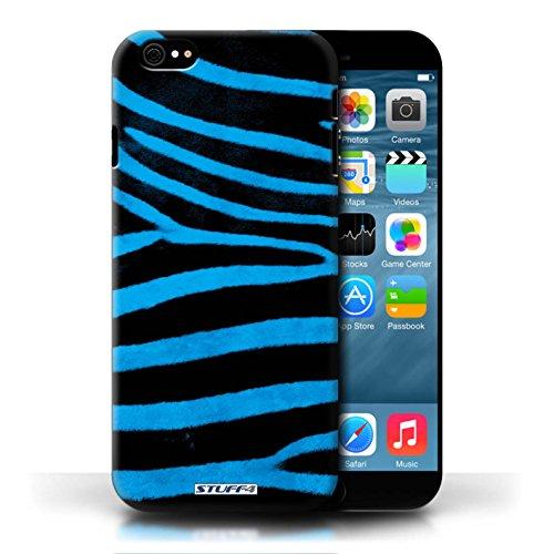 Case für Apple iPhone 6/6S / Blau Entwurf / Zebra Tier Haut/Print Collection