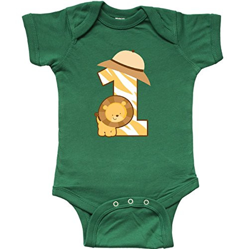 Safari 1st Birthday - inktastic - Safari 1st Birthday Infant Creeper 18 Months Kelly Green 1b52d