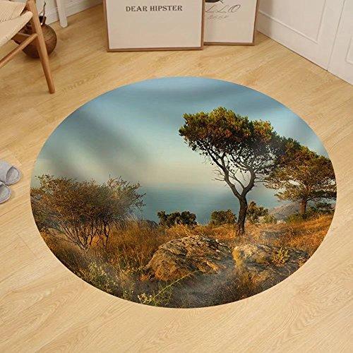 Gzhihine Custom round floor mat Spain Beach by Gzhihine