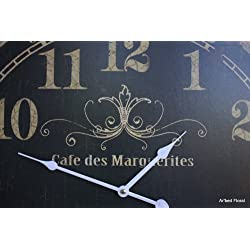 23 Cafe des Marguerites Wall Clock with Pendulum