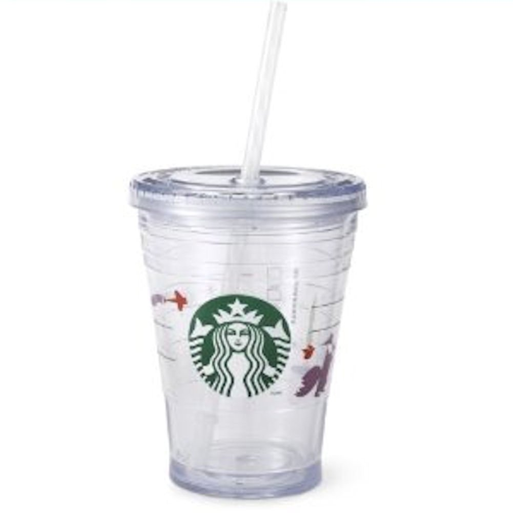 amazon com starbucks holiday cold cup 12oz coffee cups coffee