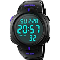 Reloj Digital Hombre, Welltop Reloj Deportivo Hombre Reloj cronometro con Temporizador de Alarma, dial Grande…