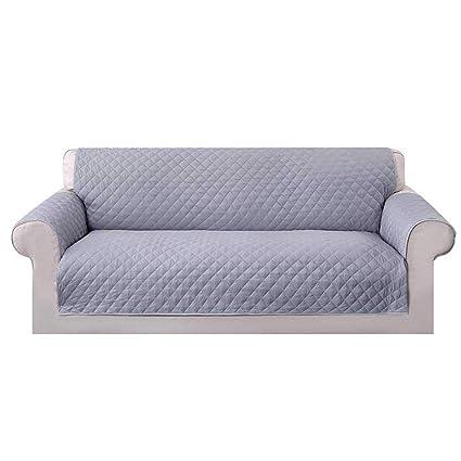 Umiwe Funda Sofa 3 Plazas Cubre Sofas 2 Plazas Funda Sillon Sofa Saver elasticas para Perro en Negro Borgona Marron Azul (3 plazas, Gris)