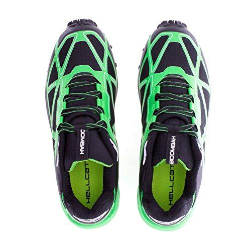 Chaussure De Randonnée Pour Homme Hellcat Boombah - 14 Options De Couleurs - Plusieurs Tailles Noir / Vert Citron