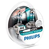 Automotive : Philips X-treme Vision +130% Headlight Bulbs (Pack of 2) (H4 60/55W)