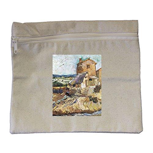 - The Garden Of Dr. Gachet (Van Gogh) Canvas Zippered Pouch Makeup Bag