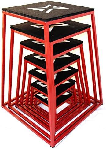 FXR Sports Plyo Caja pliométrica de entretamiento para saltos y sentadillas, disponible en 7 tamaños, de 15,24 a 106,68 cm, 6