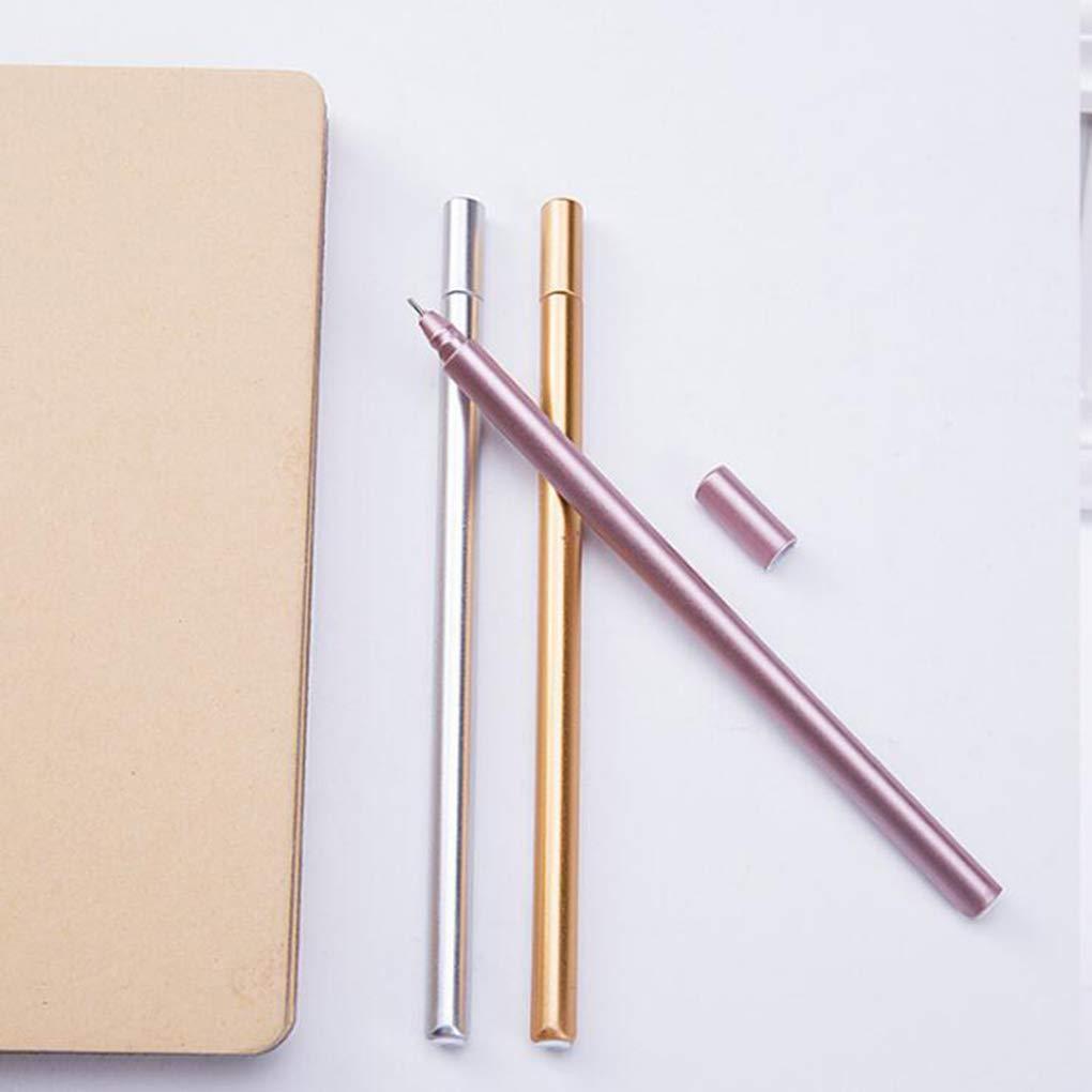 Student Briefpapier Simulation Metall Unterschrift Pen B/üroartikel 0.5mm Kineca 5PCS Gel Pen Black Ink Point