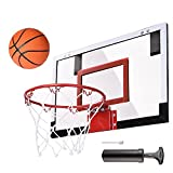 AW Mini Basketball Hoop 18x12' Over-The-Door/Wall Indoor w/ Pump 5.5' Ball Set Sport Exercise