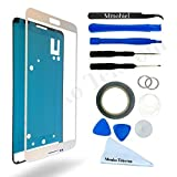 SAMSUNG GALAXY NOTE 3 N9000 N9005 WHITE DISPLAY TOUCHSCREEN REPLACEMENT KIT 12 PIECES INCLUDING 1 REPLACEMENT FRONT GLASS FOR SAMSUNG GALAXY NOTE 3 / 1 PAIR OF TWEEZERS / 1 ROLL OF 2MM ADHESIVE TAPE / 1 TOOL KIT / 1 MICROFIBER CLEANING CLOTH / WIRE