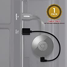 Chromecast USB Cable -- 8 Inch USB Cable Designed to Power Your Google Chromecast HDMI Streaming Media Player from Your TV USB Port