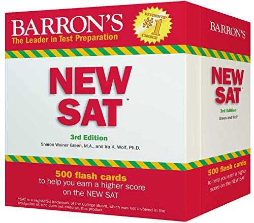 Barron's NEW SAT Flash Cards: 500 Flash Cards to Help You Achieve a Higher Score (Barron's Test Prep)