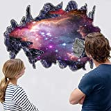 WMdecal 3D Outer Space Galaxy Meteorites Wall Stickers,Removable Vinyl Wall Art Murals,DIY Home Decals