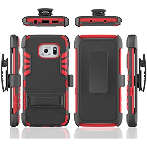 Samsung S7 Edge Case, Acheers Heavy Duty Rugged Stand Case with Belt Clip Holster Shell Cover ID Card Case for Sales