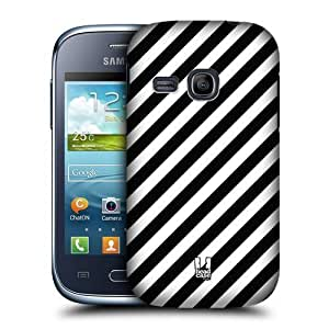 AIYAYA Samsung Case Designs Zebra Print Black and White Pattern Protective Snap-on Hard Back Case Cover for Samsung Galaxy Young S6310