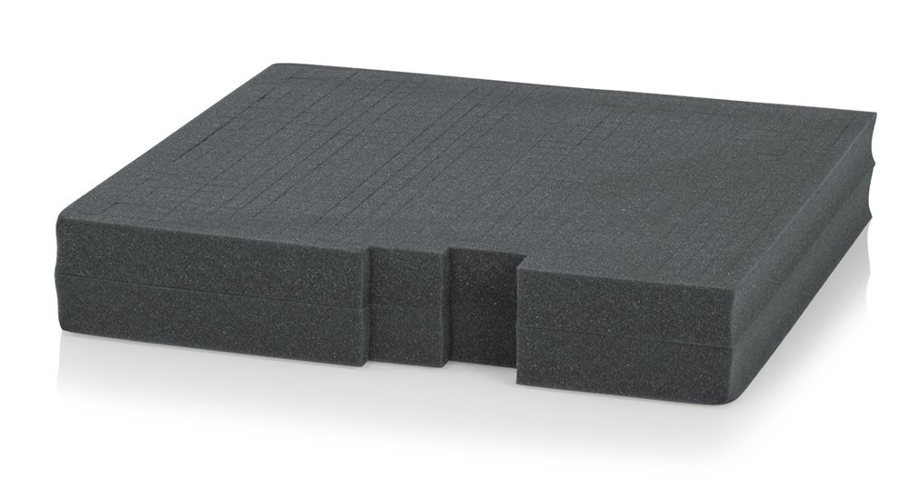 Gator Rackworks Replacement Layered Diced Foam for Rack Mount Drawer; 2U Insert (GRW-DRWFOAM-2)