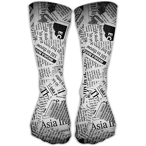 Ancient Newspaper Unisex Casual Crew Socks Athletic Stockings Funny Designed