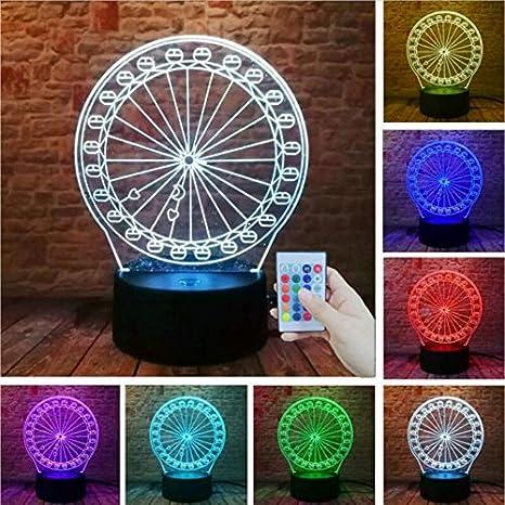 Amazon.com: Zonxn - Lámpara de mesa con 7 colores cambiantes ...