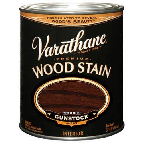 Varathane 211728H Premium Wood Stain, Quart, Gunstock