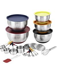 PickUp VonShef 17 Piece Premium Mixing Bundle with 5 Stainless Steel Mixing Bowls, Measuring Spoon Set, Measuring Cup... reviews