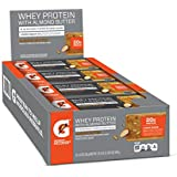 Gatorade Whey Protein With Almond Butter Bars, Almond Butter, 2.0 ounce bars (Pack of 12), 20g of protein per bar