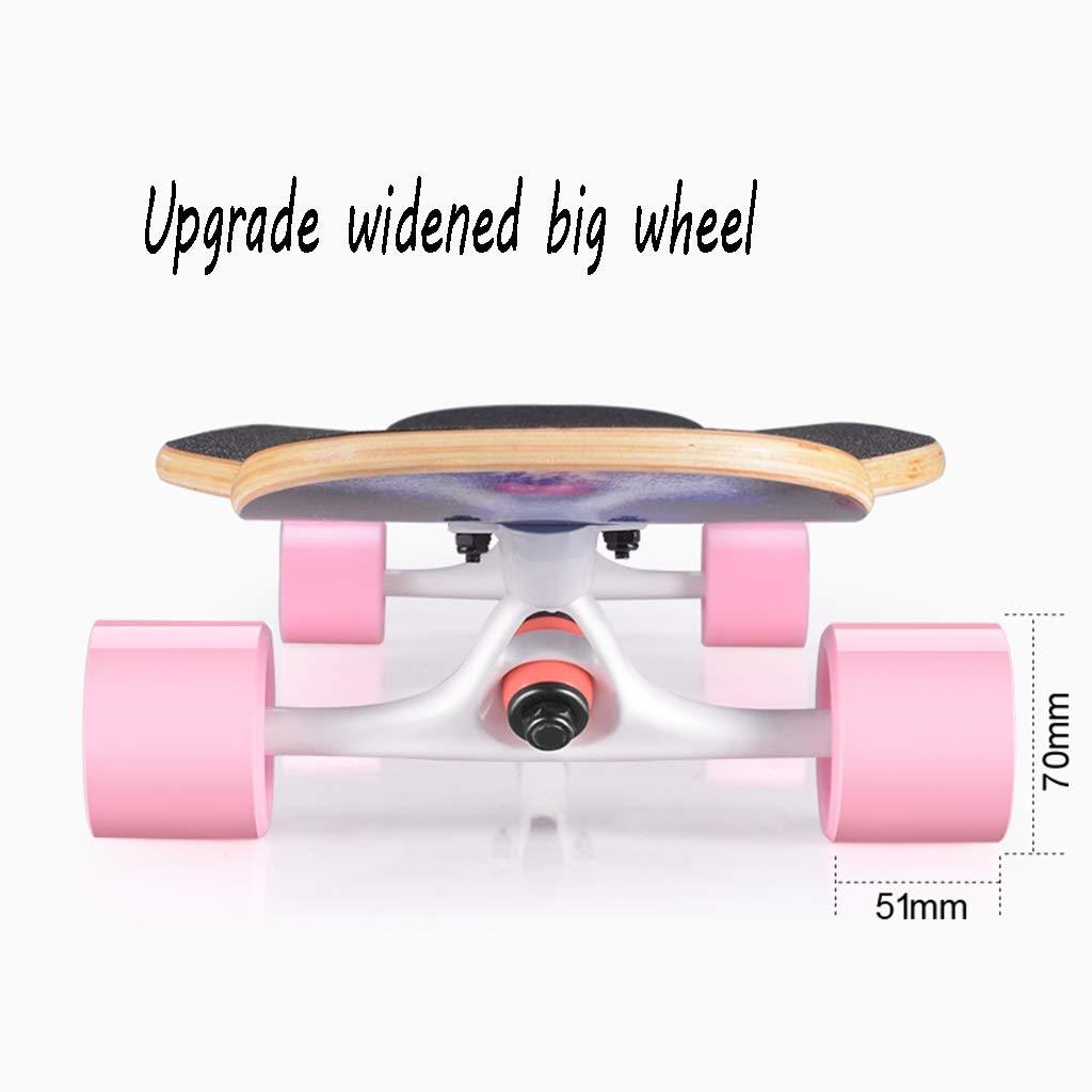HXGL-Skateboard Skateboard Longboard Four-Wheeled Scooter Beginner Girls Boys Professional Adult Brush Hip-hop Board Youth (Color : Black) by HXGL-Skateboard (Image #4)