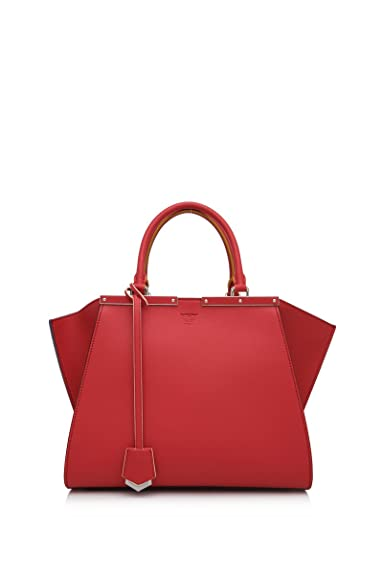 943bff69f6112 Fendi Leder Handtasche Damen Tasche Bag 3jours Rot  Amazon.de ...