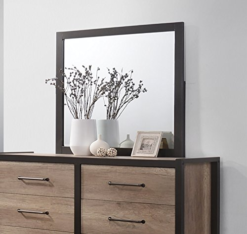 Coaster Home Furnishings 206274 Dresser Mirror, Weathered Oak (Tall Dresser With Mirror)