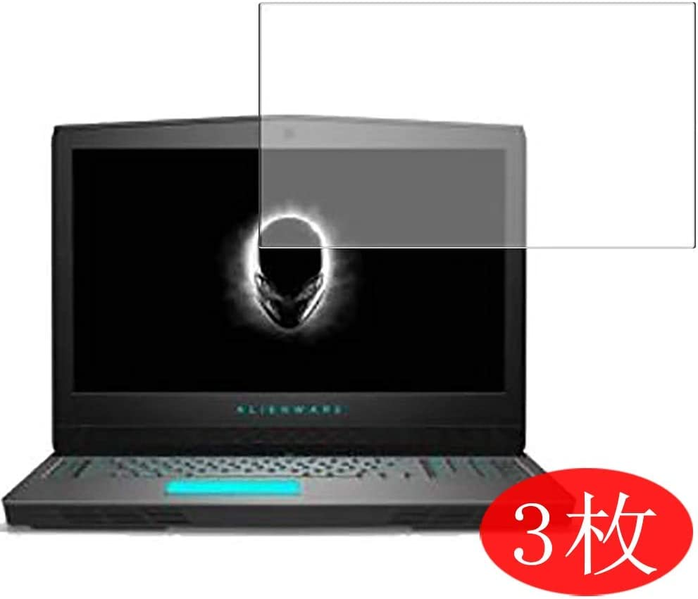"""?3 Pack? Synvy Screen Protector Compatible with Dell Alienware 17 17-R5 17.3"""" TPU Flexible HD Clear Case-Friendly Film Protective Protectors [Not Tempered Glass] New Version"""