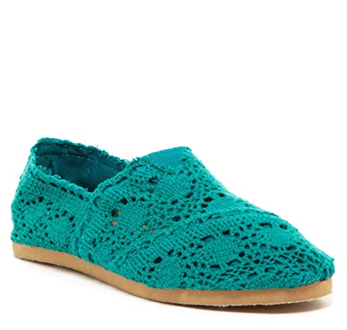 Bucco Mitty Crochet Flat Sea Foam