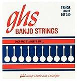 GHS 4-String tenor Banjor Stainless Steel 10.5-28 220