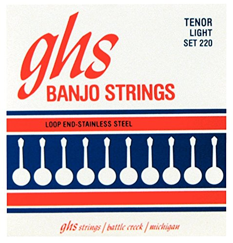 GHS 4-String tenor Banjor Stainless Steel 10.5-28 220 (Strings Tenor Banjo)