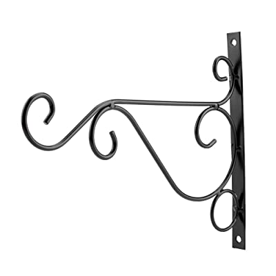 Hanging Plant Brackets, 2521cm Iron Plant Hanger Wall Hanging Bracket Flower Hook for Home Garden Decoration(Black): Home & Kitchen