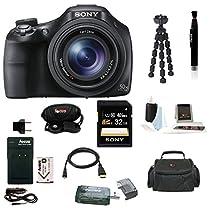 Sony Cyber-shot DSC-HX400 Digital Camera (Black) (Silver Bundle)
