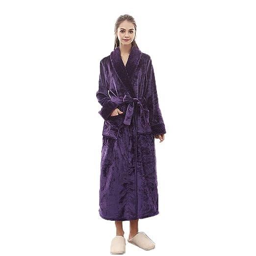 1d920c0a91 BCL-Pajamas Ladies Coats Long Dresses Bath Robe Woman Dressing Gown Winter  Warm Bathrobe (Color   GREEN