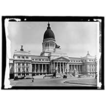 Vintography 16 x 20 Gallery Wrapped Frame Art Canvas Print of Argentina Capitol, Buenos Aires 1915 National Photo Co 12a