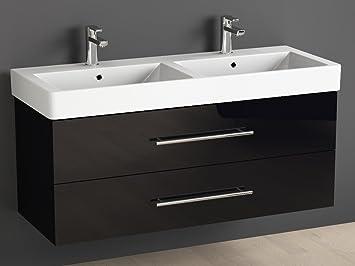 Aqua Bagno Badmobel 120 Cm Inkl Keramik Doppelwaschtisch Badezimmer